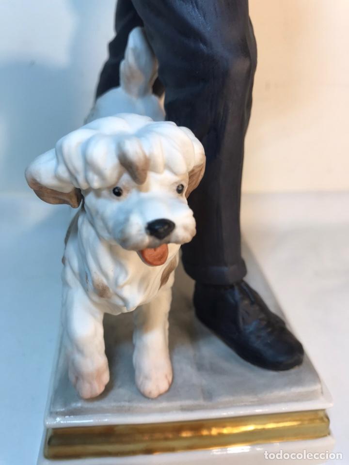 Antigüedades: Figura Porcelana- España- Algora - Vendedor de Periódicos (Oficios)- 29 cm - Foto 16 - 194605692