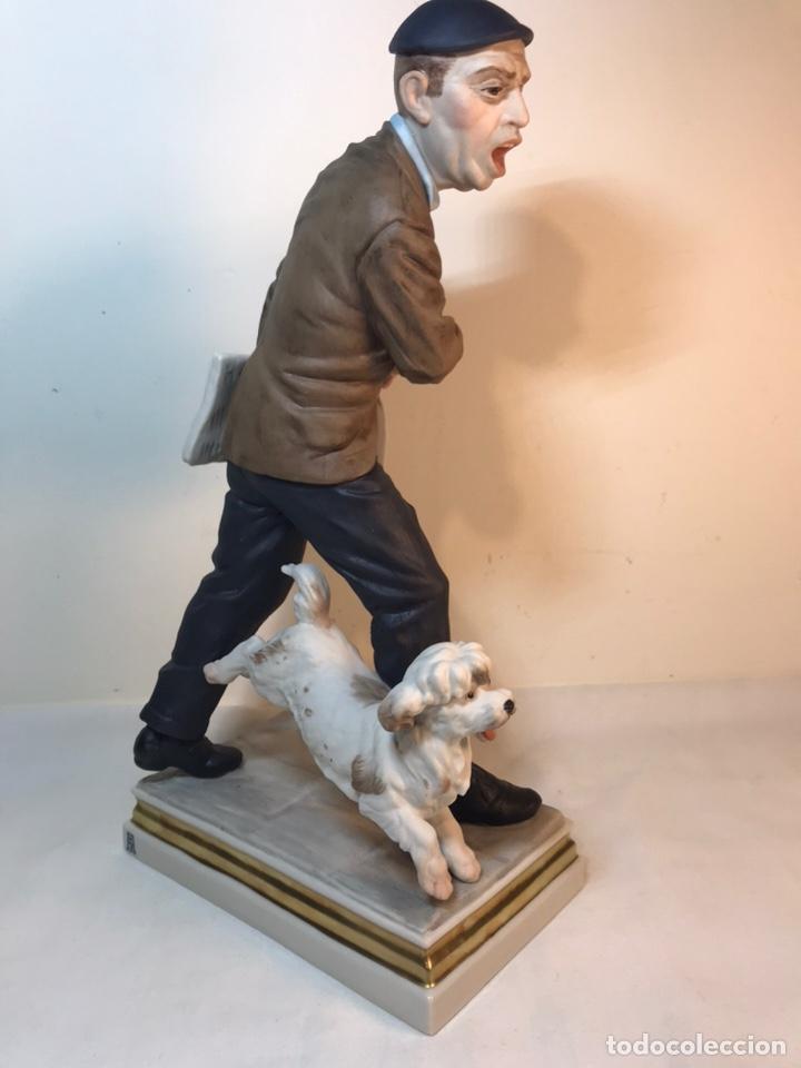 Antigüedades: Figura Porcelana- España- Algora - Vendedor de Periódicos (Oficios)- 29 cm - Foto 18 - 194605692