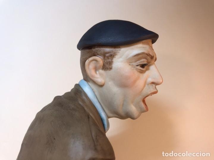 Antigüedades: Figura Porcelana- España- Algora - Vendedor de Periódicos (Oficios)- 29 cm - Foto 21 - 194605692