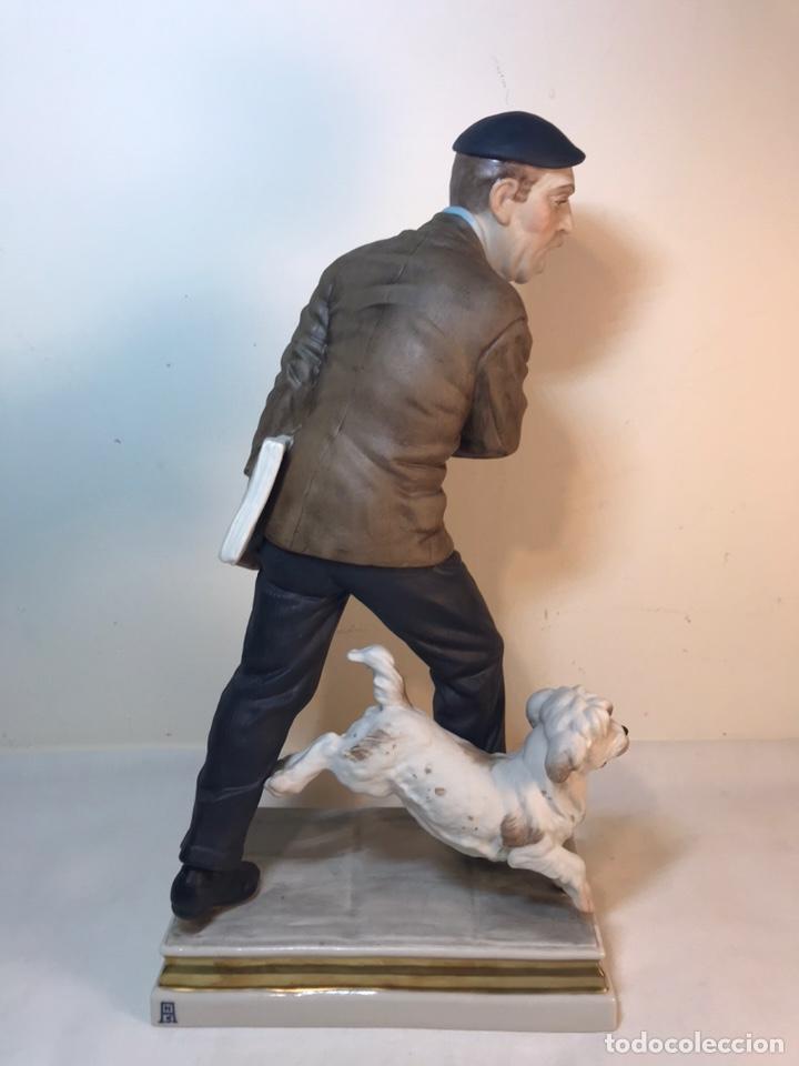 Antigüedades: Figura Porcelana- España- Algora - Vendedor de Periódicos (Oficios)- 29 cm - Foto 22 - 194605692