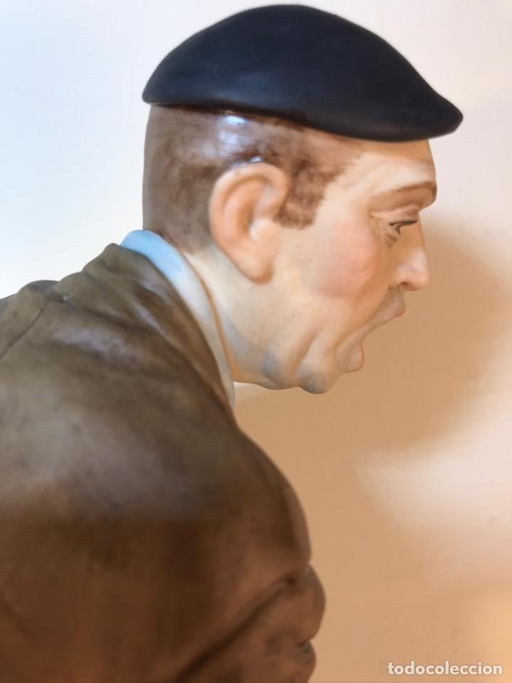 Antigüedades: Figura Porcelana- España- Algora - Vendedor de Periódicos (Oficios)- 29 cm - Foto 25 - 194605692
