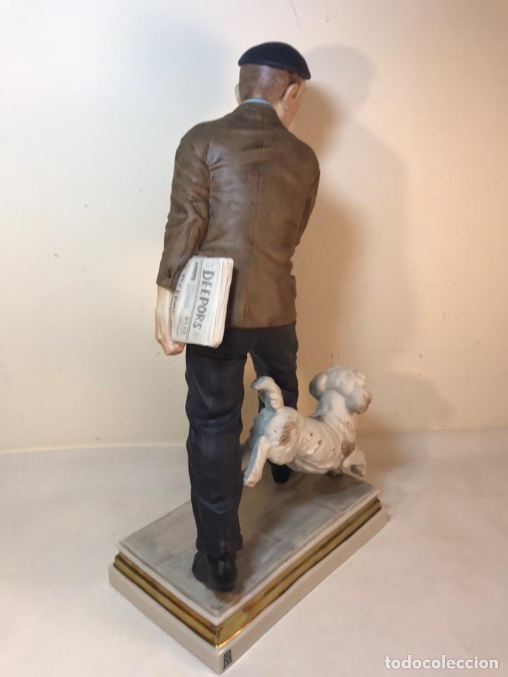 Antigüedades: Figura Porcelana- España- Algora - Vendedor de Periódicos (Oficios)- 29 cm - Foto 26 - 194605692