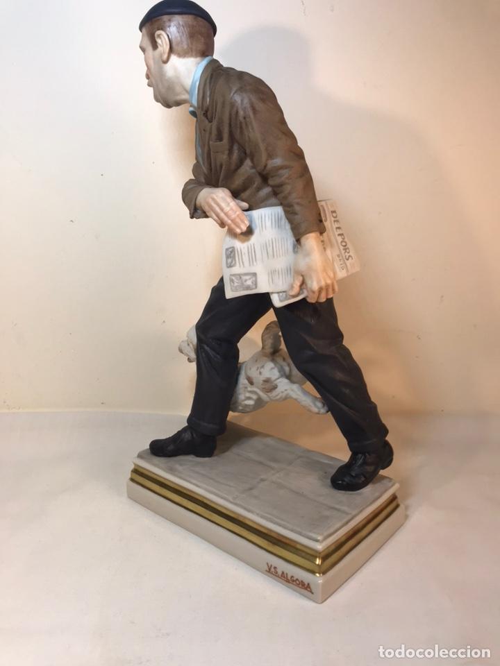 Antigüedades: Figura Porcelana- España- Algora - Vendedor de Periódicos (Oficios)- 29 cm - Foto 34 - 194605692