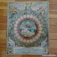 Antiguidades: CURIOSÍSIMO--RELOJ DEL CRISTIANO, SIGLO XIX. Lote 194606662