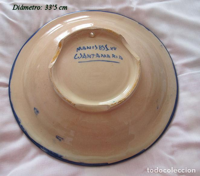 Antigüedades: PLATO GRANDE MANISES ESTILO SIGLO XV - Foto 2 - 194607076