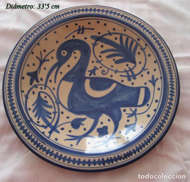PLATO GRANDE MANISES ESTILO SIGLO XV (Antigüedades - Porcelanas y Cerámicas - Manises)