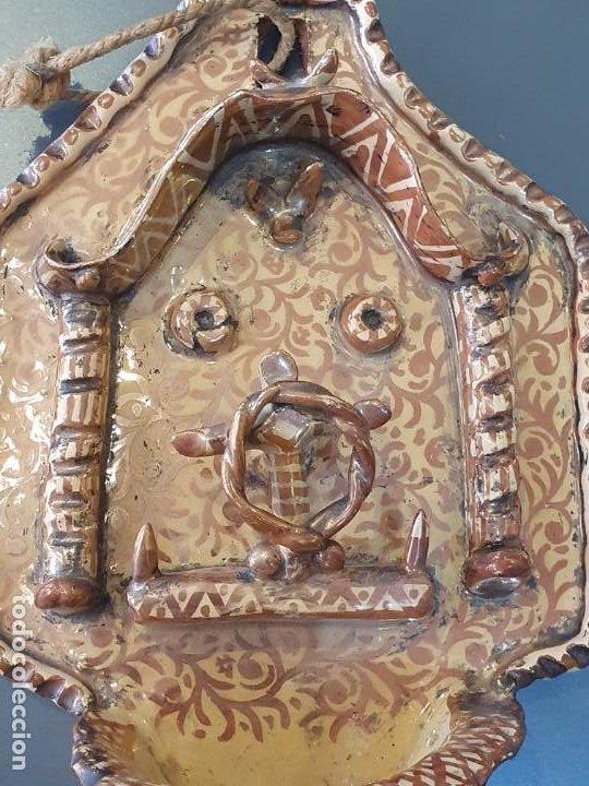 Antigüedades: MAGNIFICA BENDIETERA DE REFLEJO METALICO S.XIX-XX - Foto 2 - 194607103