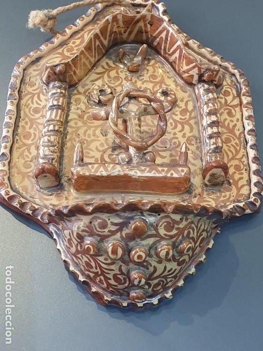 Antigüedades: MAGNIFICA BENDIETERA DE REFLEJO METALICO S.XIX-XX - Foto 3 - 194607103