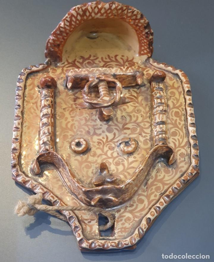 Antigüedades: MAGNIFICA BENDIETERA DE REFLEJO METALICO S.XIX-XX - Foto 5 - 194607103