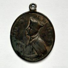 Antigüedades: ANTIGUA MEDALLA S. XVII / SAN IGNACIO LOYOLA Y SAN LUIS / 3,5CM X 2,8CM. Lote 194607321