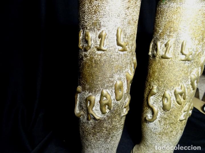 Antigüedades: Jarrones art nouveau.hechos de vainas de obus de la 1ª guerra mundial.Batalla Somme.Francia.Inglés - Foto 2 - 194608190