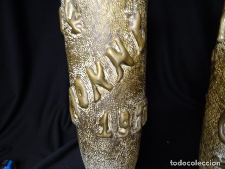 Antigüedades: Jarrones art nouveau.hechos de vainas de obus de la 1ª guerra mundial.Batalla Somme.Francia.Inglés - Foto 6 - 194608190