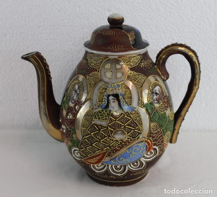 Antigüedades: JUEGO DE CAFÉ DE 4 SERVICIOS EN PORCELANA PINTADA A MANO - SATSUMA JAPÓN - PRINCIPIOS SIGLO XX - Foto 2 - 194611042