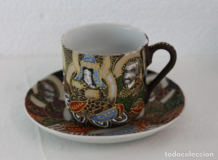 Antigüedades: JUEGO DE CAFÉ DE 4 SERVICIOS EN PORCELANA PINTADA A MANO - SATSUMA JAPÓN - PRINCIPIOS SIGLO XX - Foto 7 - 194611042