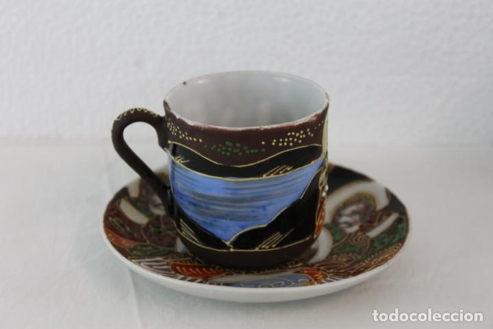 Antigüedades: JUEGO DE CAFÉ DE 4 SERVICIOS EN PORCELANA PINTADA A MANO - SATSUMA JAPÓN - PRINCIPIOS SIGLO XX - Foto 8 - 194611042