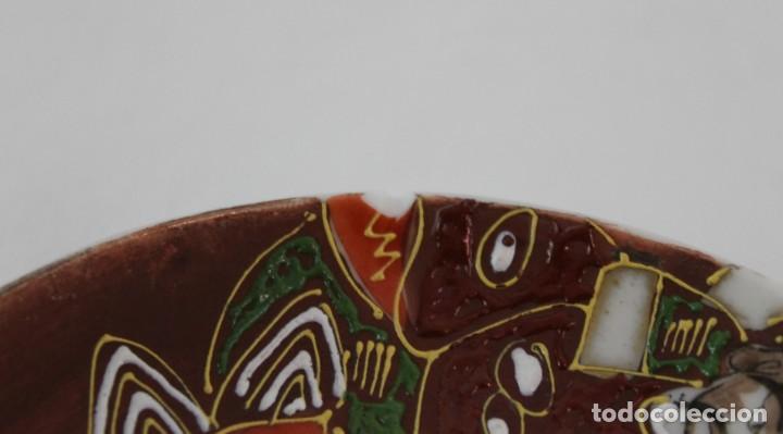 Antigüedades: JUEGO DE CAFÉ DE 4 SERVICIOS EN PORCELANA PINTADA A MANO - SATSUMA JAPÓN - PRINCIPIOS SIGLO XX - Foto 10 - 194611042