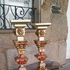 Antigüedades: PAREJA DE COLUMNAS BARROCAS ESPAÑOLAS SIGLO XVIII. Lote 194534857