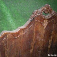 Antigüedades: CABECERO Y PIE DE CAMA EN MADERA ,ANCHO 148CM X 135CM ALTURA. Lote 194613692