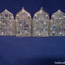 Antigüedades: ICONO VIAJE DE CUATRO HOJAS RUSO ANTIGUO. Lote 194613873