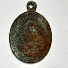 Antigüedades: ANTIGUA MEDALLA S.XIX / SAGRADO CORAZÓN DE JESÚS Y DE MARÍA / 2,8CM X 2CM. Lote 194614183