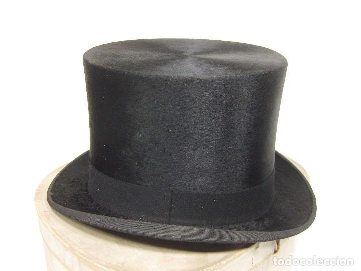 Antigüedades: Sombrero de Copa. Sombrerería Lod. Rambla Flores, 1. Barcelona. - Foto 2 - 194616736