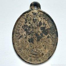Antigüedades: ANTIGUA MEDALLA S.XIX / MARÍA CONCEBIDA Y SAN LUIS GONZAGA / 2,8CM X 2CM. Lote 194620301