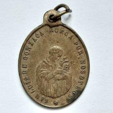 Antigüedades: ANTIGUA MEDALLA S.XIX / SAN LUIS GONZAGA Y MARÍA CONCEBIDA ROGAD POR NOSOTROS / 2,8CM X 2CM. Lote 194620673