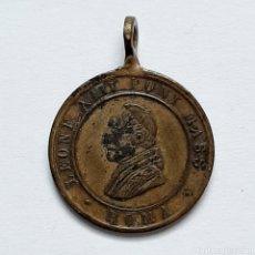 Antigüedades: ANTIGUA MEDALLA S.XIX / LEONE XIII PONT MASS ROMA / PAPA LEON / 2,4CM X 1,9CM. Lote 194621565