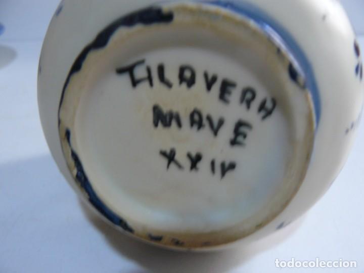 Antigüedades: PEQUEÑA JARRA DE CERAMICA DE TALAVERA - MAVE XXIX. - Foto 4 - 194621662
