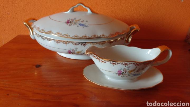 ANTIGUA SOPERA Y SALSERA DE SANTA CLARA (Antigüedades - Porcelanas y Cerámicas - Santa Clara)
