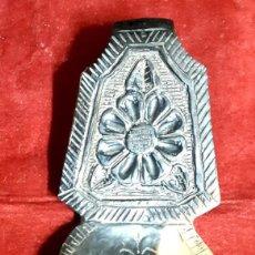 Antigüedades: CUCHARA PASTORIL EN ASTA DE TORO. Lote 194626696