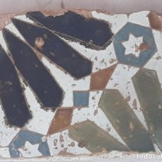 Antigüedades: AZULEJO ANTIGUO DE TOLEDO - SIGLO XV - XVI - ARABE / MUDEJAR - ARISTA.. Lote 194629727