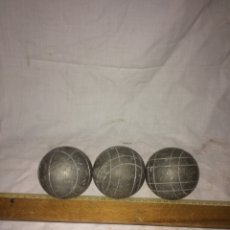 Antigüedades: JUEGO DE 3 BOLAS DE PETANCA!. Lote 194632466