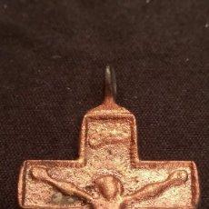 Antigüedades: CRUZ DE BRONCE SIGLO XVIII (148). Lote 194633303