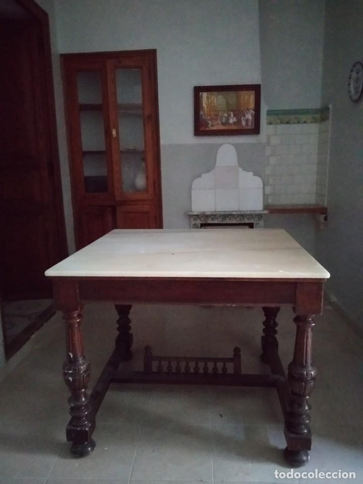 Antigüedades: Antigua mesa Alfonsina - Foto 3 - 194197943