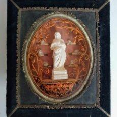 Antigüedades: RELICARIO FRANCÉS, NAPOLEÓN III, MEDIADOS SIGLO XIX. Lote 194641641