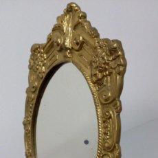 Antigüedades: ANTIGUO ESPEJO DE TOCADOR EN BRONCE . Lote 194642532