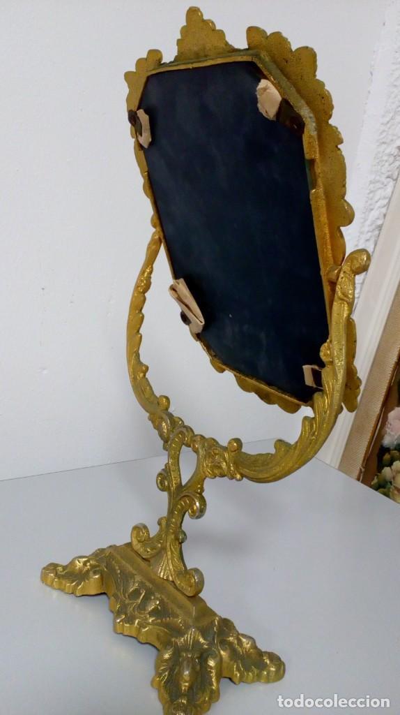 Antigüedades: ESPEJO DE TOCADOR BASCULANTE EN BRONCE - Foto 5 - 194643843