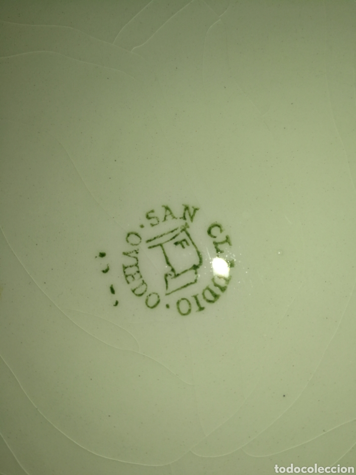 Antigüedades: SAN CLAUDIO, OVIEDO, ANTIGUA FUENTE HONDA , IMPECABLE, 26 CM DIÁMETRO, 9 CM ALTURA. - Foto 5 - 194644676