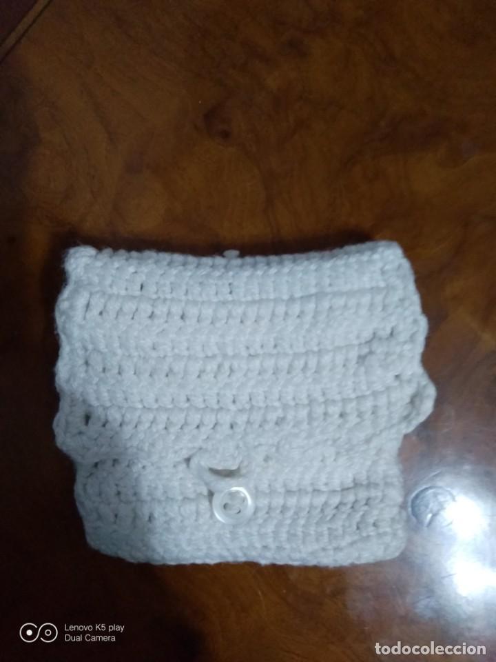 Antigüedades: Bolsillo lana tejido a mano. - Foto 2 - 194649450