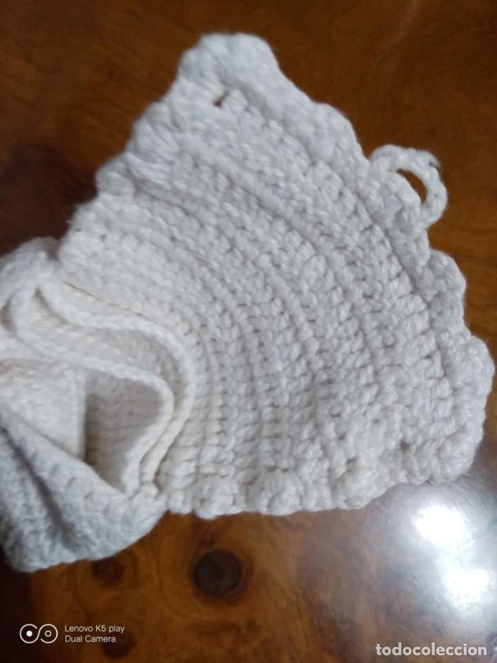 Antigüedades: Bolsillo lana tejido a mano. - Foto 3 - 194649450