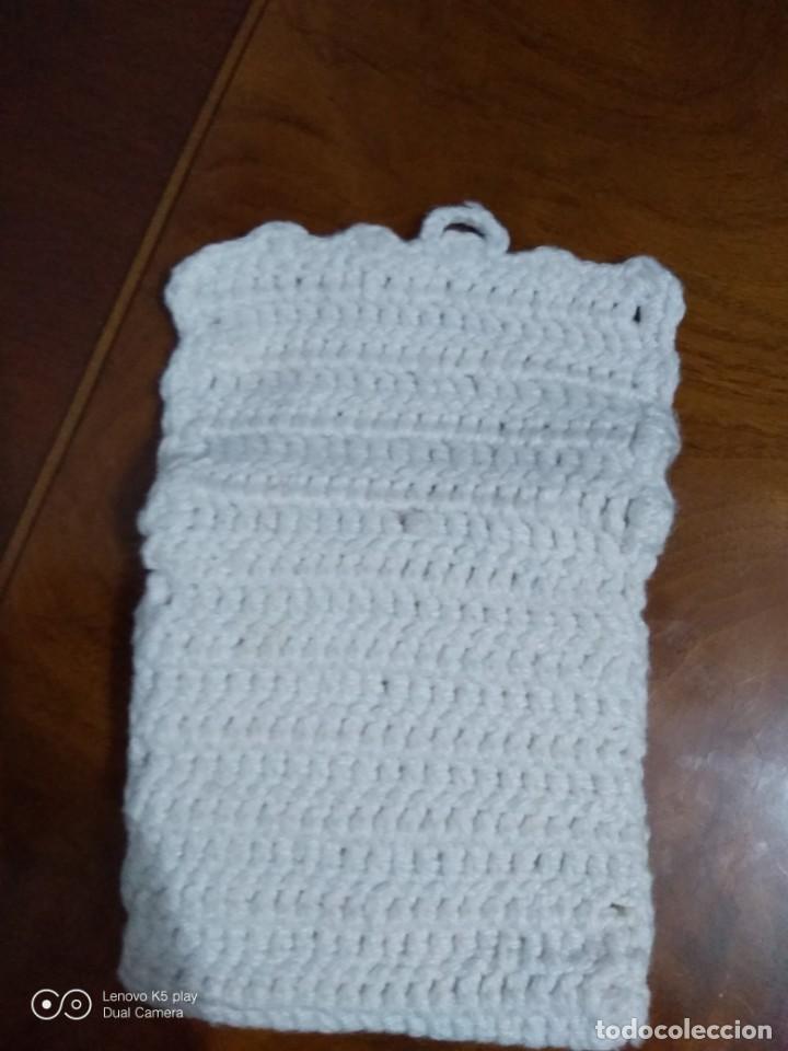 Antigüedades: Bolsillo lana tejido a mano. - Foto 4 - 194649450