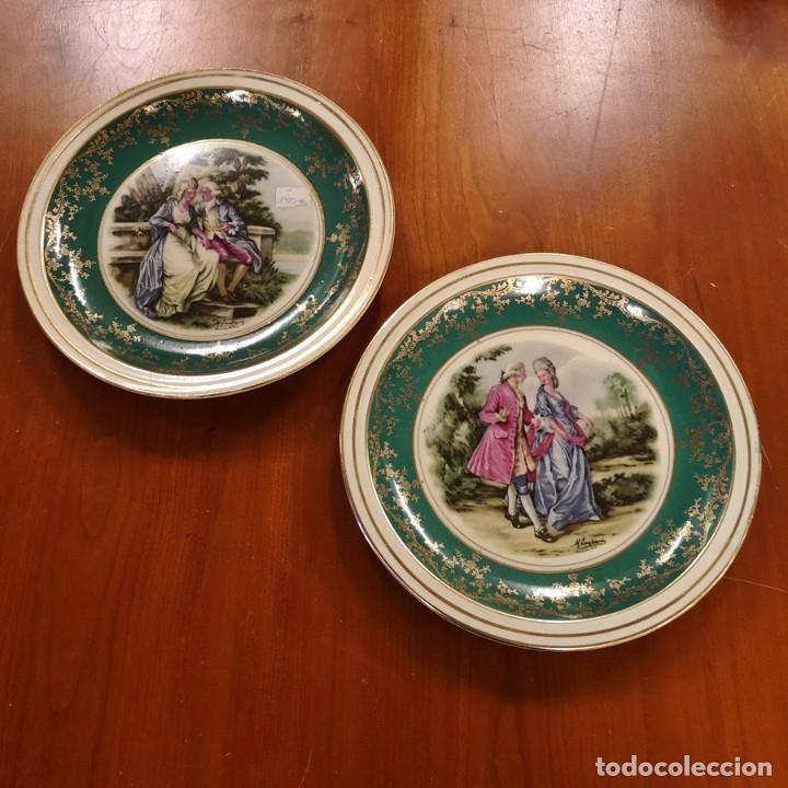 PAREJA PLATOS (Antigüedades - Porcelanas y Cerámicas - Santa Clara)