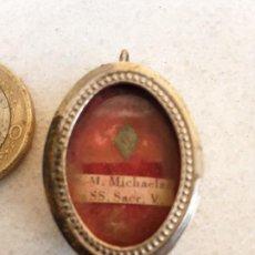 Antigüedades: CAJITA RELICARIO SANTA MARIA MICAELA. Lote 194654261