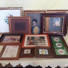 Antigüedades: LOTE DE 8 MARCOS DE MADERA, DIFERENTES TAMAÑOS, DISEÑOS Y AÑOS. Lote 194658190