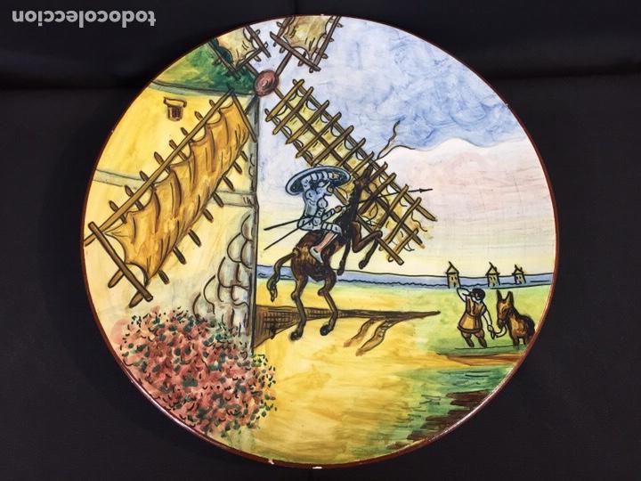 Antigüedades: Platos cerámica (talavera) DonQuijote - Foto 6 - 194669170