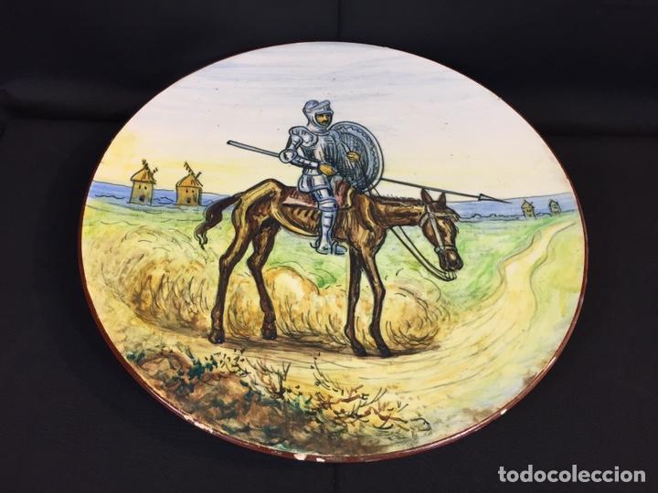 Antigüedades: Platos cerámica (talavera) DonQuijote - Foto 9 - 194669170