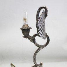 Antigüedades: MUY BONITA LAMPARA DE PLATA EN FORMA DE CISNE - 830 GRAMOS - AÑOS 30.. Lote 194669235