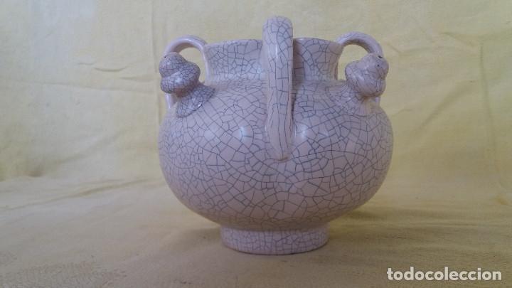 CURIOSO BOTIJO CON 4 BOCAS, DE CERÁMICA, BARRO O SIMILAR (Antigüedades - Porcelanas y Cerámicas - Otras)