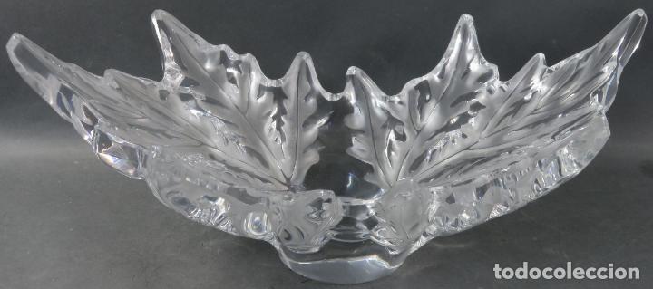 Antigüedades: Centro de mesa en vidrio brillo y mate Lalique reedición del modelo Champs Elysees hacia 1980 - Foto 2 - 194675981